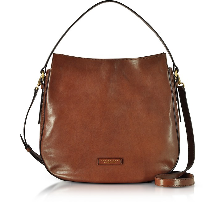 Florentin Brown Leather Shoulder Bag - The Bridge