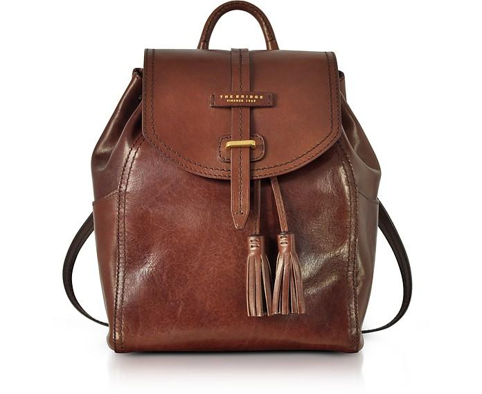 Florentin Brown Medium Backpack w/Tassels - The Bridge