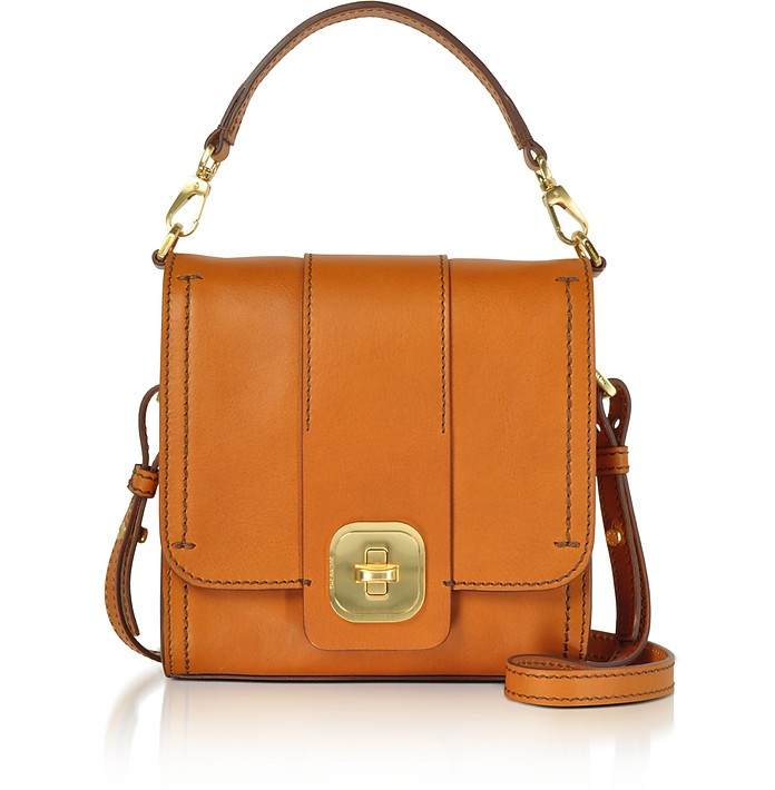 Genuine Leather Top Handle Crossbody Bag - The Bridge