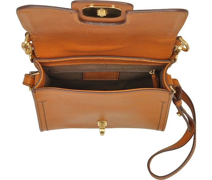 Borsa Crossbody in Pelle con Tracolla e Singolo Manico The Bridge Cognac VLJPSzv