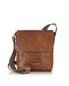 Sfoderata Marrone Leather Men's Crossbody Bag