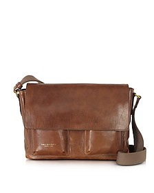 Sfoderata Marrone Leather Messenger W/ Pockets - The Bridge