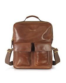 Sfoderata Marrone Leather Backpack