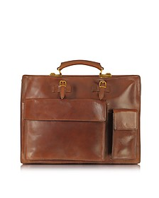 Story Uomo Marrone Leather Briefcase