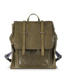 Ascott Olive Green Leather Backpack