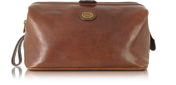Story Viaggio Marrone Leather Beauty Case - The Bridge