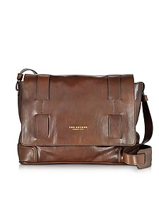 Cosmopolitan Brown Leather Messenger Bag