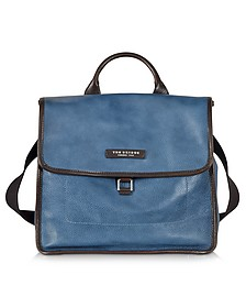 Urban Blue Leather Small Backpack - The Bridge