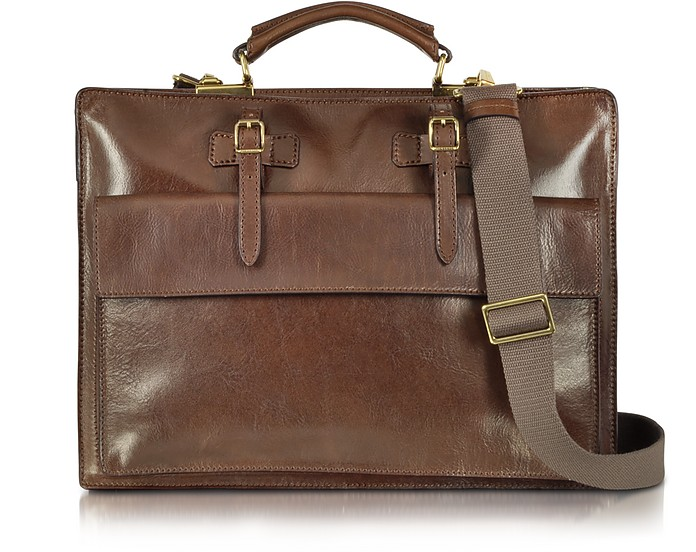 Story Uomo Brown Leather Briefcase - The Bridge / ザ・ブリッジ