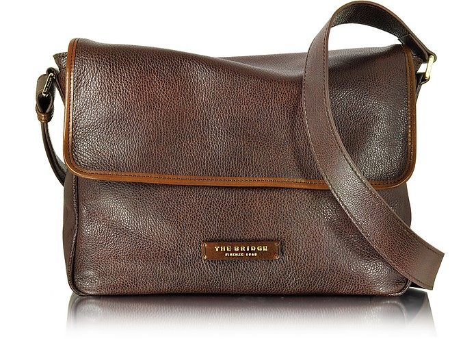 925a341206ac95 Plume Mix Uomo Borsa Messenger in Pelle The Bridge Caramello su FORZIERI