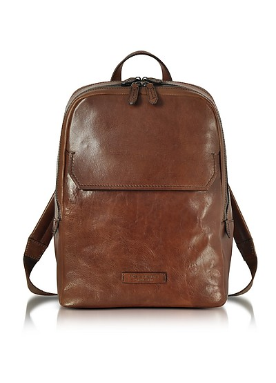 Marrone Leather Men's Backpack - The Bridge