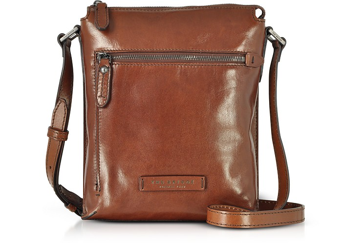Kallio Brown Leather Men's Crossbody Bag - The Bridge