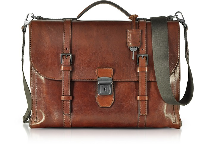 Byron Brown Leather Men's Briefcase - The Bridge