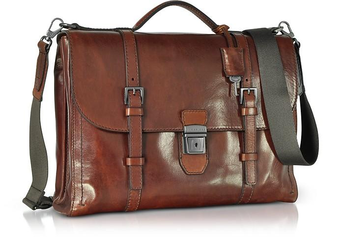 775e15666c The Bridge Byron Brown Leather Men's Briefcase at FORZIERI UK