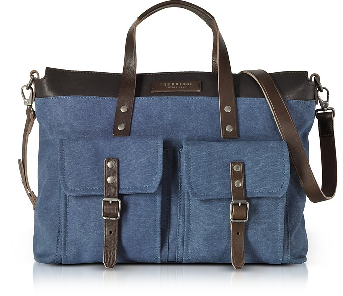 Carver-D Canvas and Leather Men's Tote Bag - The Bridge