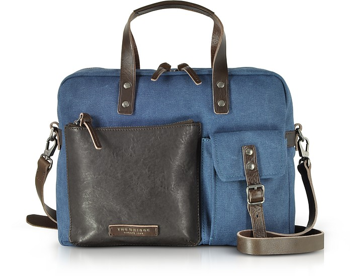 Carver-D Canvas Briefcase w/Leather Front Pocket - The Bridge / ザ・ブリッジ