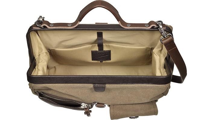 Canvas D Leather Pocket w Bridge Front Carver The Bag Doctor O5fxBxqP