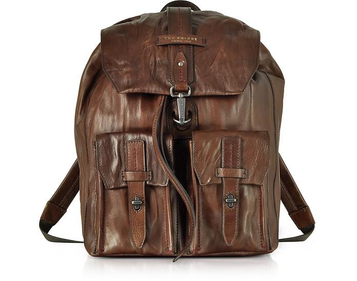 Washed Calf Leather Backpack - The Bridge