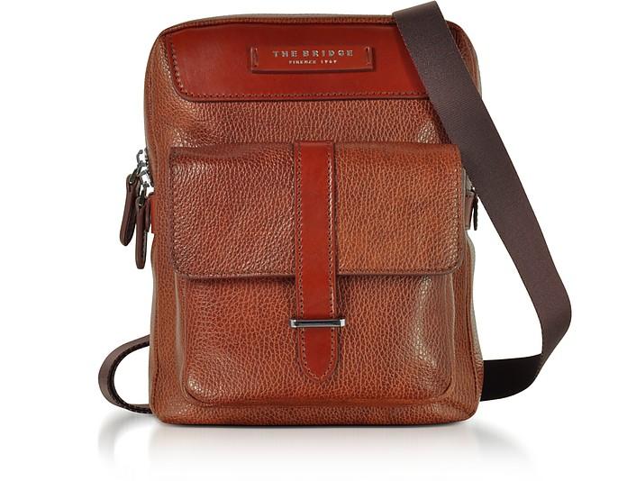 Brown Leather Men's Crossbody Bag - The Bridge