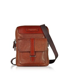 Brown Leather Men's Crossbody Bag - The Bridge