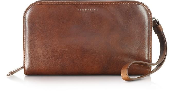 Jade Brown Leather Men's Wallet/Clutch - The Bridge