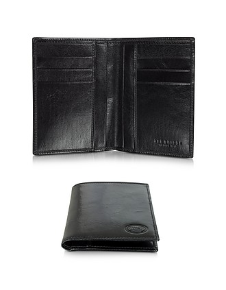 732e9bac30 Story Uomo Dark Brown Leather Men's Vertical Wallet - The Bridge