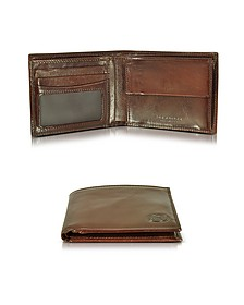 Story Uomo Dark Brown Billfold Wallet w/Coin Pocket - The Bridge