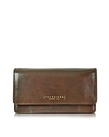 Passpartout Donna Dark Brown Leather Women's Large Wallet - The Bridge