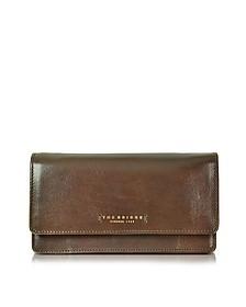 Passpartout Donna große Brieftasche für Damen aus Leder in dunkelbraun - The Bridge