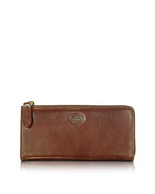 Story Donna Brown Leather Zip Wallet - The Bridge