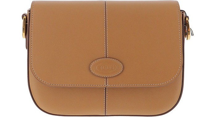 Brown Leather Mini Shoulder Bag - Tod's