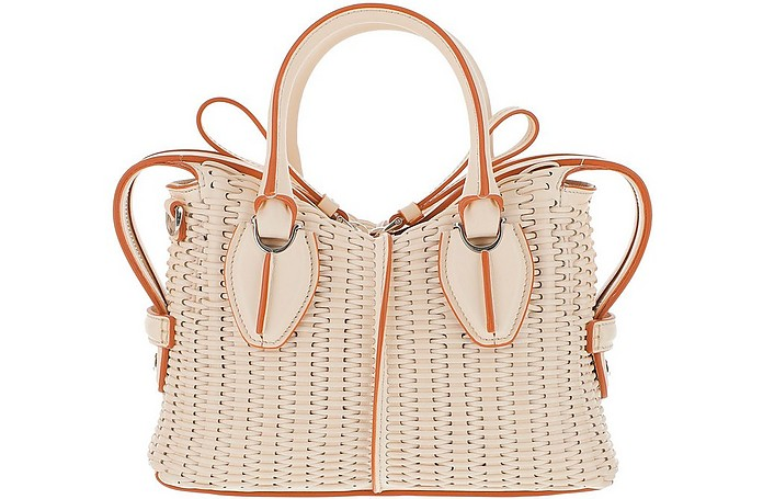 D-Styling Woven Wicker Micro Satchel Bag - Tod's