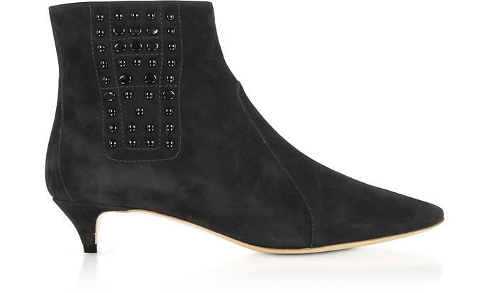 Black Suede Ankle Boots w/Beads - Tod's