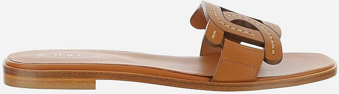 Tod's Leathers Brown Sandals