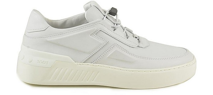 White Leather Men's Sneakers - Tod's / トッズ