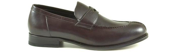 Brown Leather Men's Loafer Shoes - A.Testoni