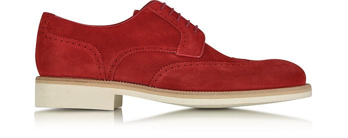 Garofano Suede Derby Shoe - A.Testoni