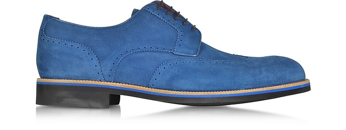 A.TESTONI OLTREMARE SUEDE DERBY SHOE