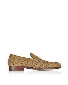 Brandy Woven Leather Slip-on Shoe - A.Testoni