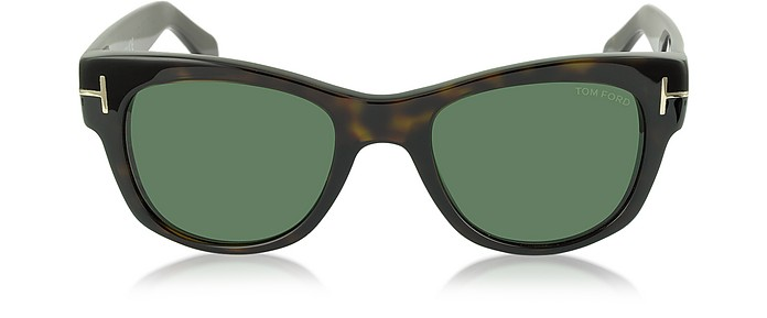 CARY FT0058 52N Sonnenbrille aus Acetat in havana - Tom Ford