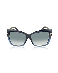 IRINA FT0390 Oversized Squared Sunglasses - Tom Ford