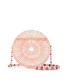 Pink Acrylic Luna Shoulder Bag  - Cult Gaia