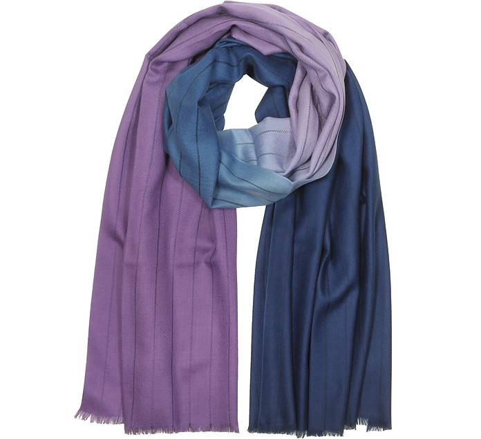 Two-tone Dip-Dye Stripe Cashmere-Blend Men's Scarf - Paul Smith
