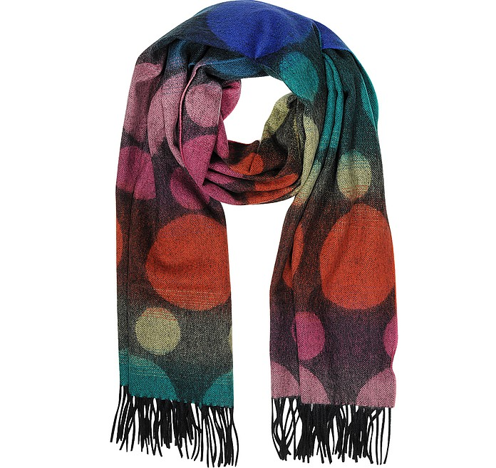 Multi-Colored Spot Lambswool Men's Scarf - Paul Smith