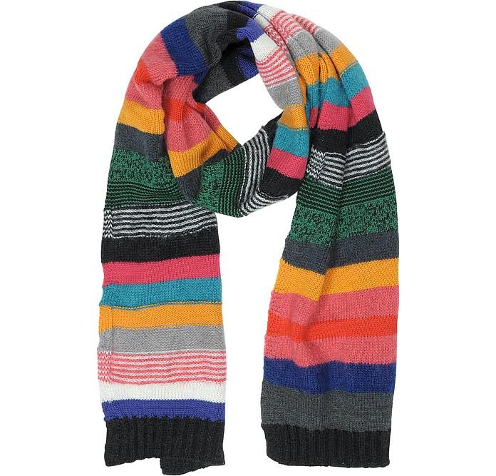 Écharpe Homme en Laine à Rayures Multicolores - Paul Smith 25d09bac037