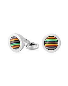 Signature Stripe Rolling Ball Men's Cufflinks