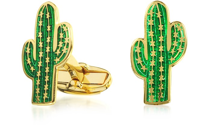 Men's Green Cactus Cufflinks - Paul Smith