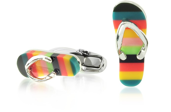 Artist Stripe Flip Flop Men's Cufflinks - Paul Smith