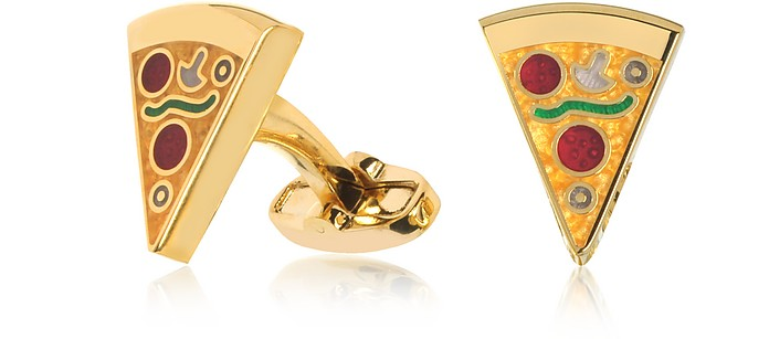 Pizza Slice Golden Cufflinks - Paul Smith