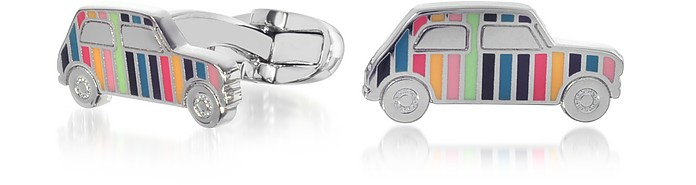 Striped Mini Car Men's Cufflinks - Paul Smith